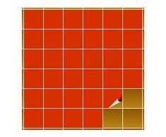 FoLIESEN Adhesivo para Azulejos para baño y Cocina–10x 10cm–orangenrot Mate–160Adhesivos para Azulejos para Pared Azulejos