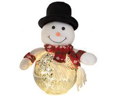 Decor Service Bolas de Navidad Muñeco de Nieve con LED s, Aprox. 25cm, 1Stk.