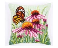 Vervaco, Almohada kit de punto de cruz, margarita de la mariposa, Multi-Colores