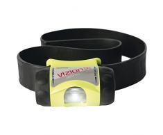 UK Lights 17010 - Linterna frontal funciona con 3 pilas AAA Vizion i Atex amarillo neón