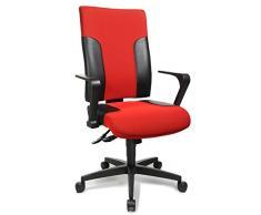 Topstar TF20RS100 silla de oficina giratoria Two 20 fijo y reposabrazos R2 OPA, funda de tela