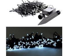 (200 LED s) kW Solar Luz Cadena 50 – 200 LED Árbol de Navidad Cadena iluminación exterior jardín fiesta