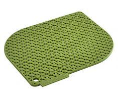 Charles Viancin 1701eu Honeycomb manopla silicona, otros, verde, 1702EU HONEYCOMB MANIQUE SILICONE VERT BAMBOU
