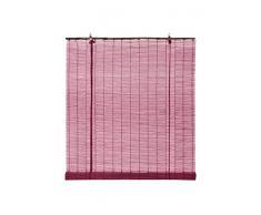 OCRES - Estor Enrollable Bambú Natural Burdeos 60X175