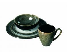 Denby 310040950 Praline - Vajilla (16 piezas), color verde oscuro