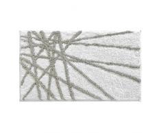 InterDesign Abstract - Tapete de microfibra, 86 x 53 cm, color piedra y blanco
