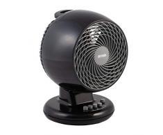 Iris Ohyama, ventilador silencioso, oscilante y potente - Woozoo - PCF-M18, negro, 32 W, 23 m²
