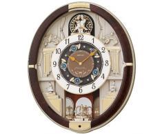 Seiko QXM289B - Reloj de pared con 12 melodías (analógica)