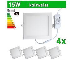 4 x funda utlrafina LEDVero Panel LED SMD 2835 15 W cuadrado luz blanca fría luz ultrafino para techo