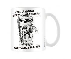 Marvel MG23465 8 x 11,5 x 9,5 cm retro gran de té responsabili taza de cerámica, Multi-color