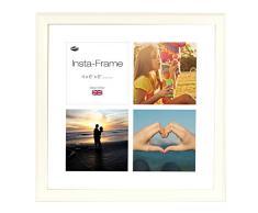 Inov8 16 x 40,64 cm Insta-Frame Austen Marco para Instagram 4/de Estampado a Cuadros de Fotos con paspartú Blanco y Blanco con Borde, Gris Claro