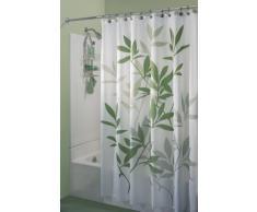 InterDesign Leaves Cortina de ducha 180,0 cm x 200,0 cm Elegantes cortinas estampadas con dibujo de hojas Cortina de ba/ño de dise/ño de tama/ño est/ándar Poli/éster negro//gris