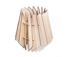 Rayher 62899505 Oslo FSCMixCred - Lámpara de láminas (madera, 18,5 x 18,5 x 20 cm, 18 piezas, en caja)