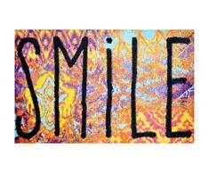 Alfombrilla LifeStyle 200458 Worn Smile, felpudo antideslizante y lavable, ideal para la entrada, el armario o la cocina, 50 x 75 cm,