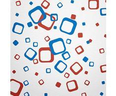 Pared Hada® pared adhesivo 60cuadrados elegir color color rojo azul bicolor Multicolor moderna decoración pared etiqueta Retro Cubes cuadrados pared vinilo decorativo pegatinas pared adhesivo para azulejos decoración pegatinas