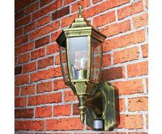 Antiguo aplique de pared de exterior con sensor de movimiento sensor ajustable H:42cm lámpara linterna balcón terraza