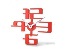 GMMH 11073 3D reloj de pared, 43 x 35 cm, rojo