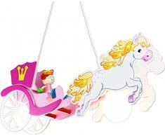 elobra Niños Lámpara plafón Carruaje de caballos Princesa, habitación de los Niños, madera, color rosa, a + +