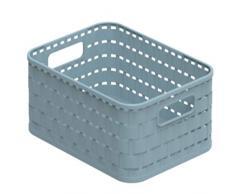 Rotho Eco Country Cesta de 2 l, Plástico (PP), Azul, 2 Liter (18,3 x 13,7 x 9,8 cm)