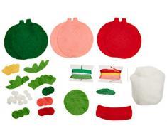 Dimensiones Kit de decoración con apliques de fieltro, 3 unidades, diseño de reloj de pared con péndulo diseño navideño