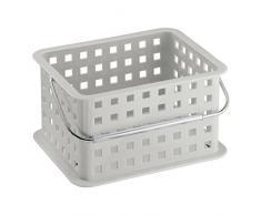 InterDesign - Canasto de plástico para almacenamiento en el hogar; para la cocina, el cuarto de baño, la oficina, el armario - Gris claro
