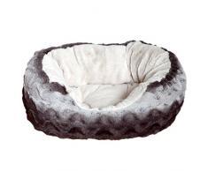 Rosewood 40 guiños Snuggle mascota cama, Gris/Crema _ P