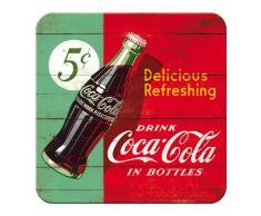 Nostalgic-Art 46139Â Metal de Posavasos Coca-Cola Delicious Refreshing, Verde