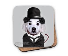 Pets Rock Vagabundo mascotas impresión posavasos, multicolor