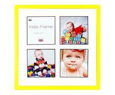 Inov8 16 x 40,64 cm Insta-Frame Marco para Instagram 4/de estampado a cuadros de fotos con paspartú blanco y negro con borde, amarillo