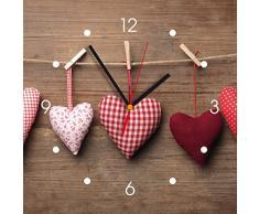 Reloj de pared de cocina - corazón rojo