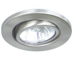 Ranex XQ-0818 GU10 50W Acero pulido iluminación de techo - Lámpara (Acero pulido, IP23, Empotrada, Transparente, Alrededor, Acero)