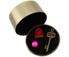 Decodelire BOX8 Romantique Flow - Joyero (vidrio y metal, 6 x 6 x 4 cm), color rosa