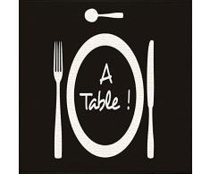Tapis Déco - 1740304, Tapete Rectangulo, 50 X 80 Cm, A Table, Estampado