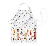 Rikki Tikki 1041911 Rudolph - Delantal infantil, diseño de reno navideño