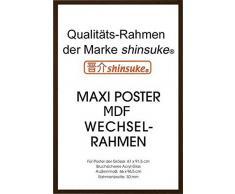 Empire Merchandising 633125 - Marco para pósteres (61 x 91,5 cm, tablero DM, dimensiones exteriores 96,4 x 65,8 cm), color marrón