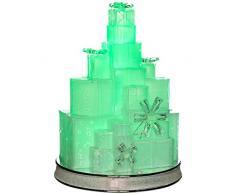 WeRChristmas - Figura decorativa Musical con caja de regalo de Navidad (con LED que cambian de Color decoración navideña, plástico, multicolor, 29 cm