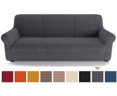 PETTI Artigiani Italiani Sofas, Funda de Sofa Elastica, 100% Made in Italy, Microfibra, Gris, 2 Plazas (130 a 170 cm)