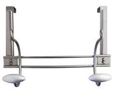Sofoc A480505 Gascogne - Perchero de pared, 2 ganchos, metal, 14,5 x 35 x 17 cm, color gris