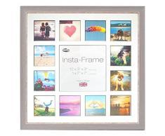 Inov8 16 x 40,64 cm tamaño pequeño Insta-Frame Marco para Instagram 13/de estampado a cuadros de fotos con paspartú blanco y negro con borde, se debe lavar a azul
