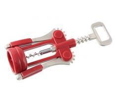 Fackelmann 48414 - Sacacorchos, color rojo