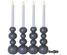 Star 214–01Bubbles candelabro de 4del 0,8W E10Blanco Cálido/negro 37x 28,5x 7cm)