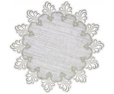 Plauener Spitze 3086L_11 Nizza - Tapete, diseño bordado