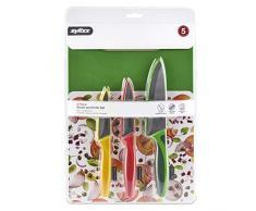 Zyliss ZE910047 - Set de corte con 3 cuchillos de cocina y 1 tabla de cortar, acero inoxidable