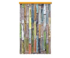 Exterior con diseño de FCC L 4508 de ambientes/impresión fotográfica de madera de la cortina, 140 x 245 cm, 1 teilig
