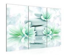 505831b - Cuadro de pared (120 x 80 cm, lienzo de fieltro, 3 piezas, fabricado en Alemania, listo para colgar), diseño de Feng Shui