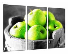 Poster Fotográfico Manzanas verdes, Frutero, Fruta Tamaño total: 97 x 62 cm XXL