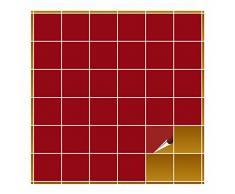 Adhesivo para azulejos para baño y cocina – 10 x 10 cm – Color Rojo Oscuro Brillante – 160 adhesivos para azulejos para pared azulejos