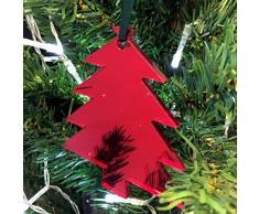 Super Cool Creations Adornos de árbol de Navidad con Espejo para árbol de Navidad, Paquete de 10