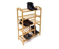 Relaxdays 10019016_350 - Estante para zapatos de bambú, 96 x 68.5 x 26 cm, 3.2 kg
