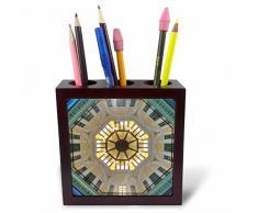 3dRose ph 207991_ 1Italia Orvieto Italiano cerámica Placa para la Venta en la Calle Azulejos Soporte para bolígrafos, 5